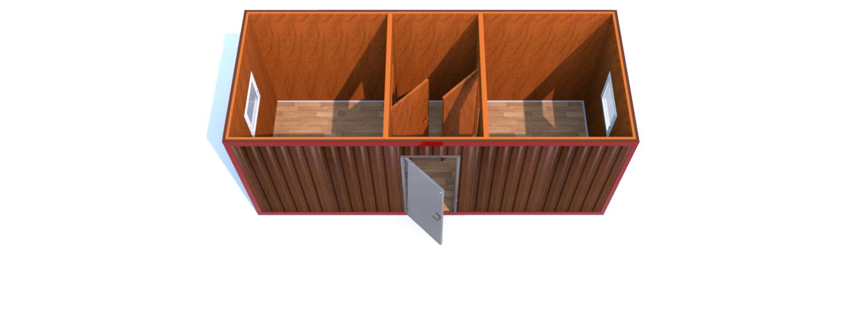 Блок-Контейнера (Д.,Ш.,В.) 6,0* 2,4*2,5 м.